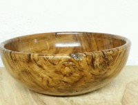 Unique Rustic English Brown Oak Burr/Pippy Hand Turned Bowl THIS IS NOW SOLD