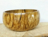 Unique Rustic English Brown Oak Burr/Pippy Hand Turned Bowl