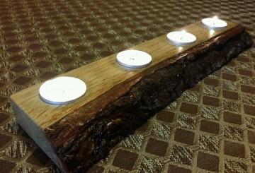 Natural Edge Tea Light Holder – 4 Tea Light holder